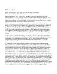Misforstået solidaritet Henrik Jacobsen Kleven, Claus Thustrup - LSE