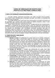 curso de graduação em odontologia proposta de diretrizes