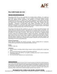Datasheet - Polyurethane 250 VOC