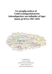 En sproglig analyse af Undervisningsministeriets bekendtgørelser ...