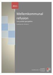 Mellemkommunal refusion i et juridisk perspektiv - Aalborg Universitet