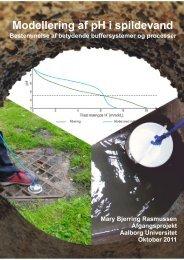 Modellering af pH i spildevand - Bestemmelse - Aalborg Universitet