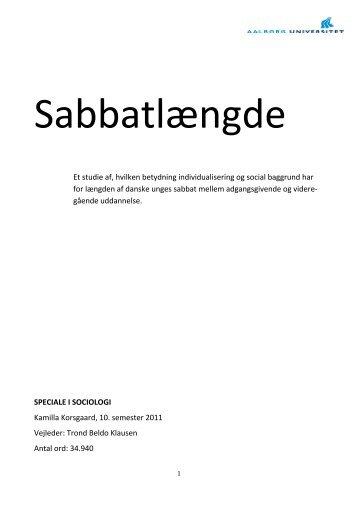 Sabbatlængde - Aalborg Universitet