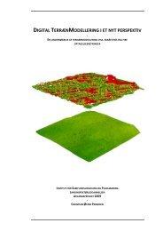 Digital terrænmodellering i et nyt perspektiv - Aalborg Universitet