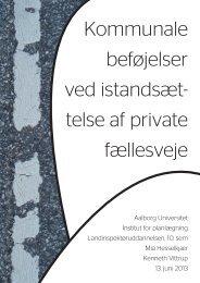 telse af private fællesveje - Aalborg Universitet