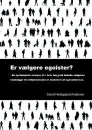 4. Analyse - holdninger til velfærdstaten - Aalborg Universitet