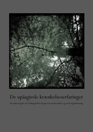 De upåagtede krænkelseserfaringer - Aalborg Universitet