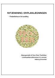 NYTÆNKNING I BYPLANLÆGNINGEN - Aalborg Universitet