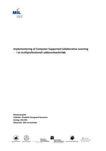I et multiprofessionelt uddannelsesforløb - Aalborg Universitet