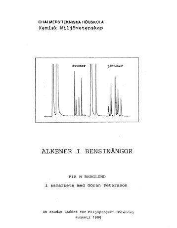 ALKENER I BENSINÄNGOR - Chalmers tekniska högskola