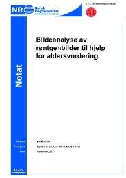 Bildeanalyse av røntgenbilder til hjelp for aldersvurdering - Norsk ...