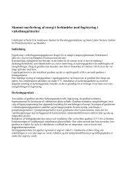 Skønnet merforbrug af energi i forbindelse med fugtstyring i ... - PURE