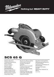 SCS 65 Q - Ryobi