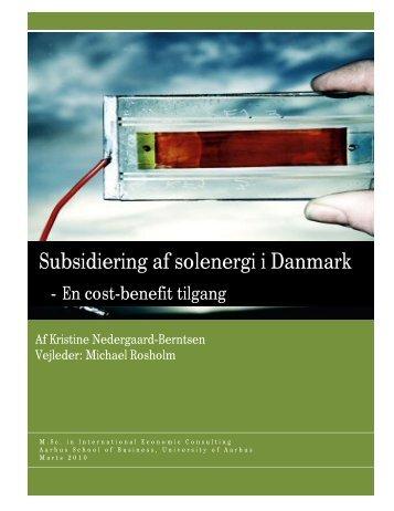Subsidiering af solenergi i Danmark - PURE