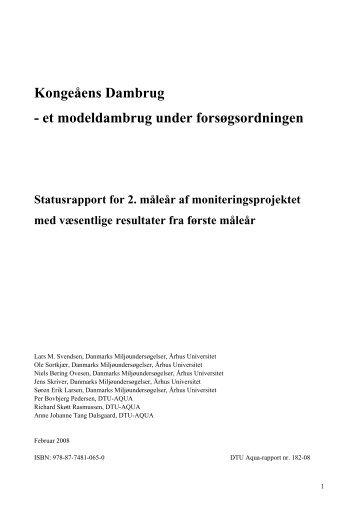 Kongeåens Dambrug - et modeldambrug under ... - DTU Orbit