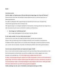 BILAG Interview resume Hvorfor valgte i at implementere ... - PURE