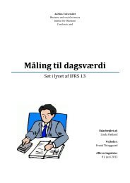 Måling til dagsværdi - PURE - Aarhus Universitet
