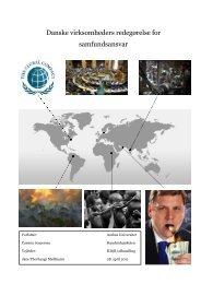 Danske virksomheders redegørelse for samfundsansvar