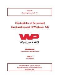 Udarbejdelse af flersproget termbasekoncept til Westpack A/S