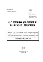 Performance evaluering af resultatløn i Danmark - PURE