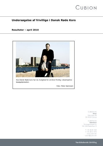 Undersøgelse af frivillige i Dansk Røde Kors - PURE