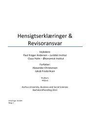 Hensigtserklæringer & Revisoransvar - PURE