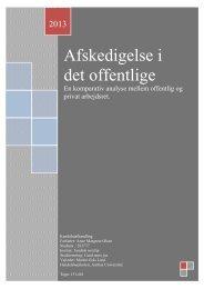Afskedigelse i det offentlige - PURE - Aarhus Universitet