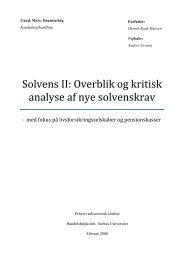 Solvens II - PURE - Aarhus Universitet