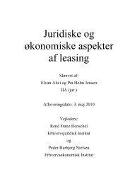 Juridiske og økonomiske aspekter af leasing - PURE