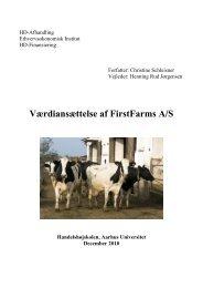 Værdiansættelse af FirstFarms A/S - PURE - Aarhus Universitet