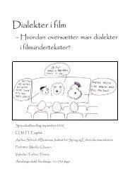 Dialekter i film - PURE