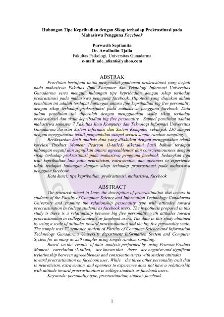 Abstrak Abstract Repository Universitas Gunadarma