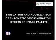 evaluation and modelization of chromatic discrimination ... - RUA