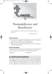 CHAPTER 3 Nonmaleficence and Beneficence