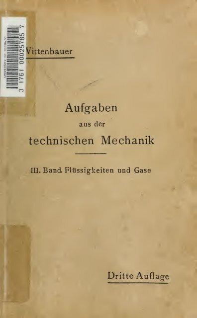 Aufgaben aus der technischen Mechanik