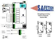 Inkopplingsanvisning Safetron Motorlås Modell 5000 5350 5450 ...