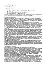 Studieafdelingen og Arkivet Årsberetning 2009 ved Lars N ...