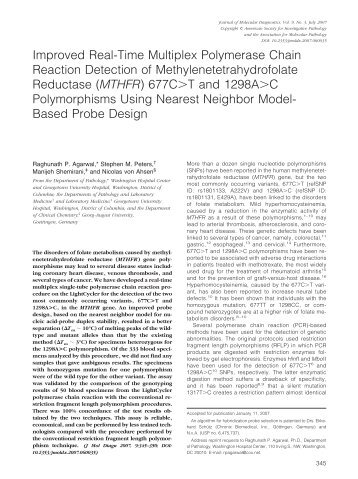 Improved Real-Time Multiplex Polymerase Chain Reaction ...