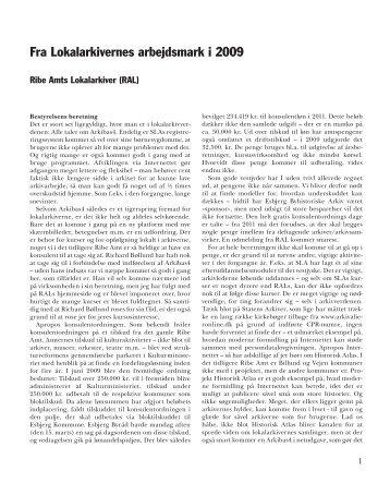 Beretninger 200 - Ribe Amts Lokalarkiver
