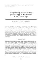 Giving in early modern history: philanthropy in Amsterdam in the ...