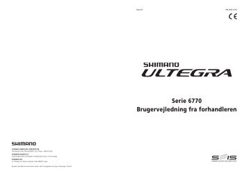 Serie 6770 Brugervejledning fra forhandleren - Shimano