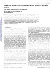 Semiflexible polymer rings on topographically and chemically ...
