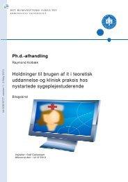 Holdninger til brugen af it i teoretisk uddannelse og klinisk praksis ...