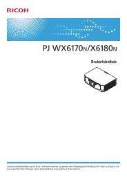 Brukerhåndbok - Firmware Download Center - Ricoh
