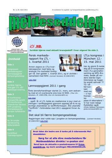 Meldeseddelen mars 2011 - Logistikk