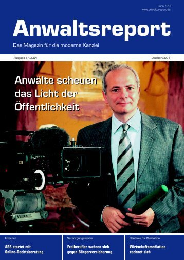 Anwaltsreport 5/04 - Anwalt-Suchservice