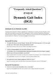 (FAQ) til Dynamic Gait Index (DGI)