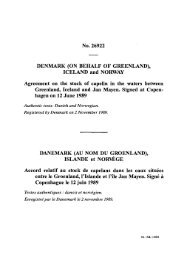 No. 26922 DENMARK (ON BEHALF OF GREENLAND), ICELAND ...