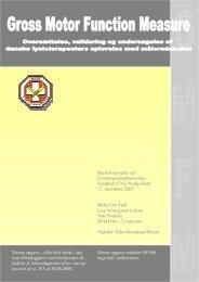 Download bachelorprojektet (pdf) - Danske Fysioterapeuter