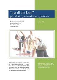 Lyt til din krop - Danske Fysioterapeuter